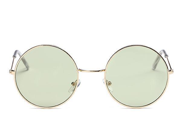 loomrack Round Small Frame Sunglasses Sunglasses Gold Green