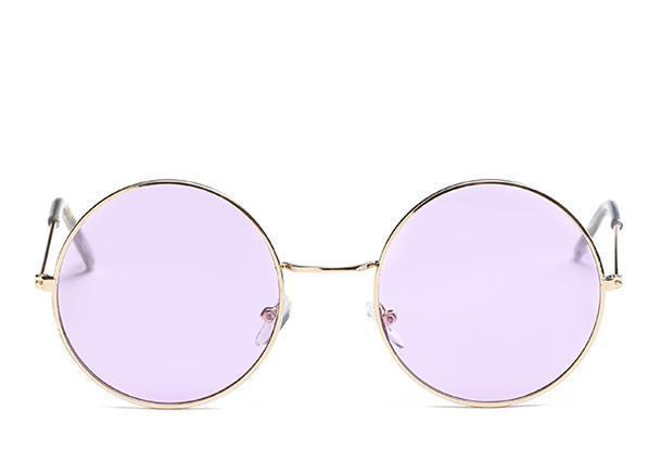 loomrack Round Small Frame Sunglasses Sunglasses Gold Purple