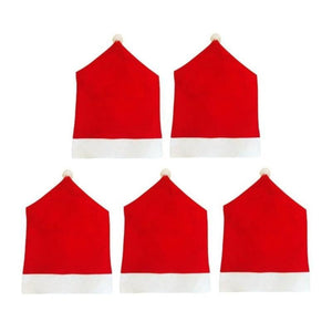 loomrack Santa Claus Red Hat Chair Back Covers Christmas Accessories