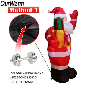 loomrack Santa Inflatable Lawn Decoration Christmas Accessories