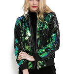 loomrack Sequin Bomber Jacket Jackets