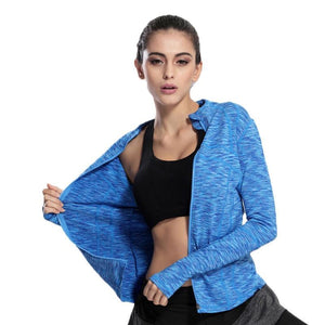 loomrack Slim Fit Quick Dry Zipper Running Yoga Jacket Sports Jackets