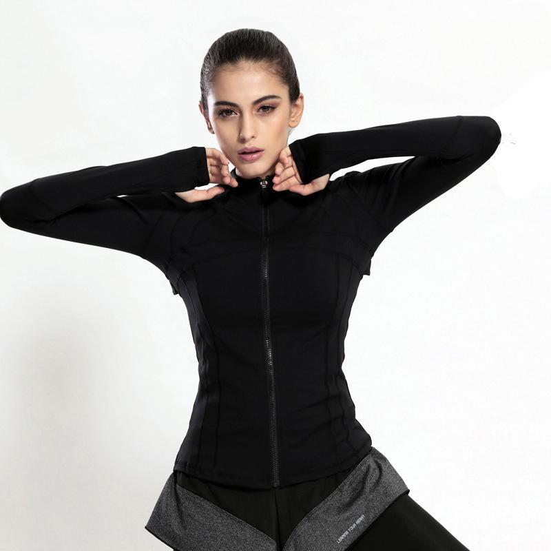 loomrack Slim Fit Quick Dry Zipper Running Yoga Jacket Sports Jackets Black / S