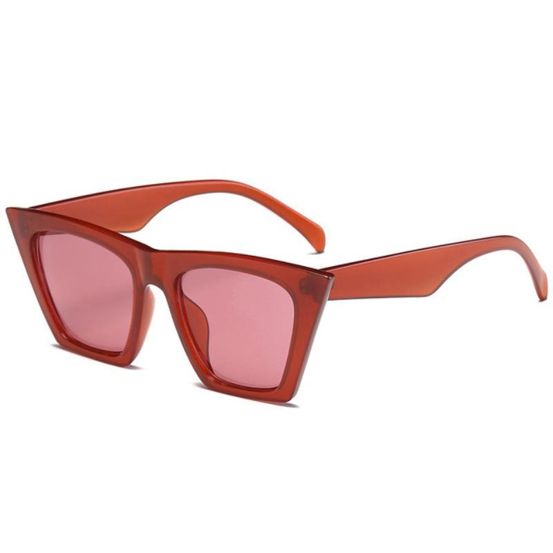 loomrack Squared Cat Eye Frames Sunglasses Red