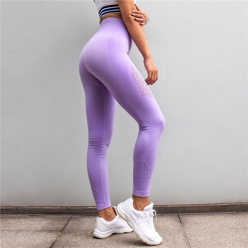 loomrack Squat Proof High Waist Compression Leggings Leggings Light Purple / M