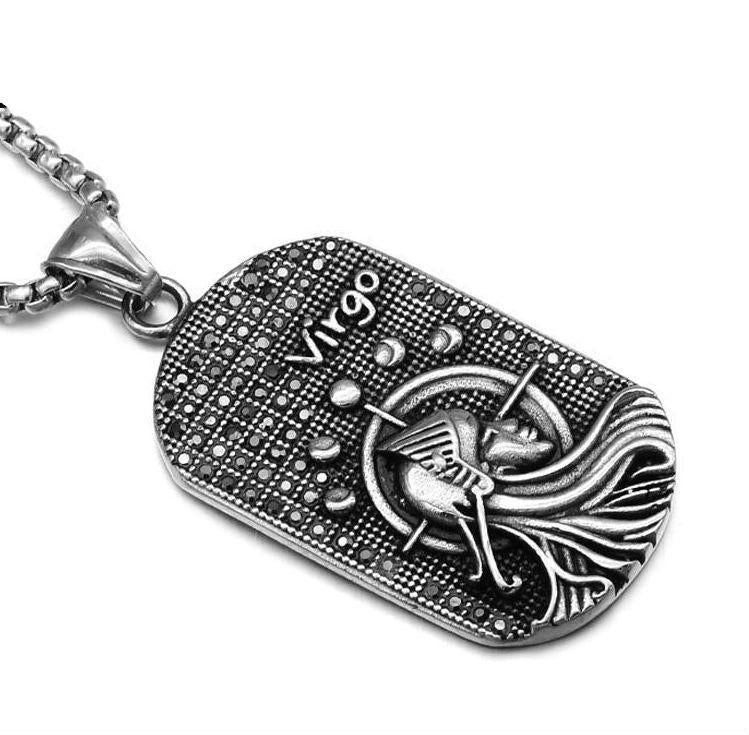 loomrack Stainless Steel Zodiac Necklace Pendant Necklaces