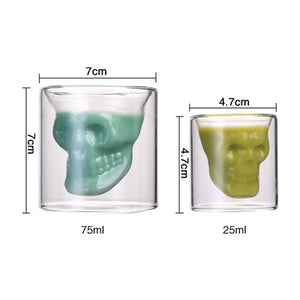 loomrack Transparent Skull Whiskey Glasses/Shot Glasses Wine Glasses