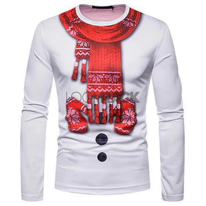 loomrack Ugly Christmas Sweater Long Sleeve T-Shirt - Snowman w/scarf Christmas Ugly Sweaters Snowman w/scarf / S
