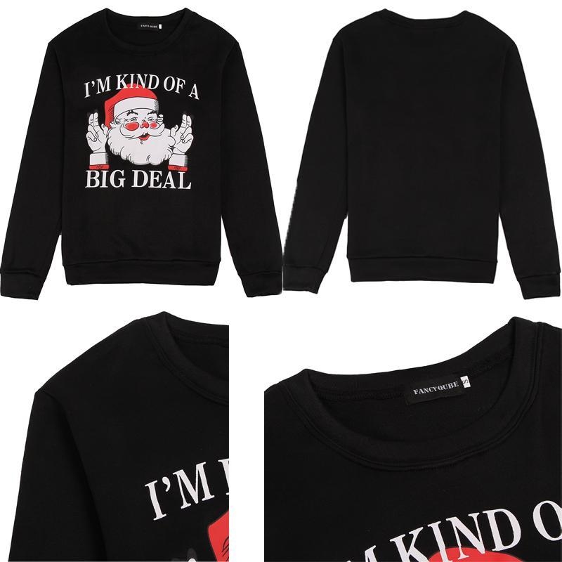 loomrack Ugly Christmas Sweater Sweatshirt for Couples - I'm Kind of a Big Deal Christmas Ugly Sweaters