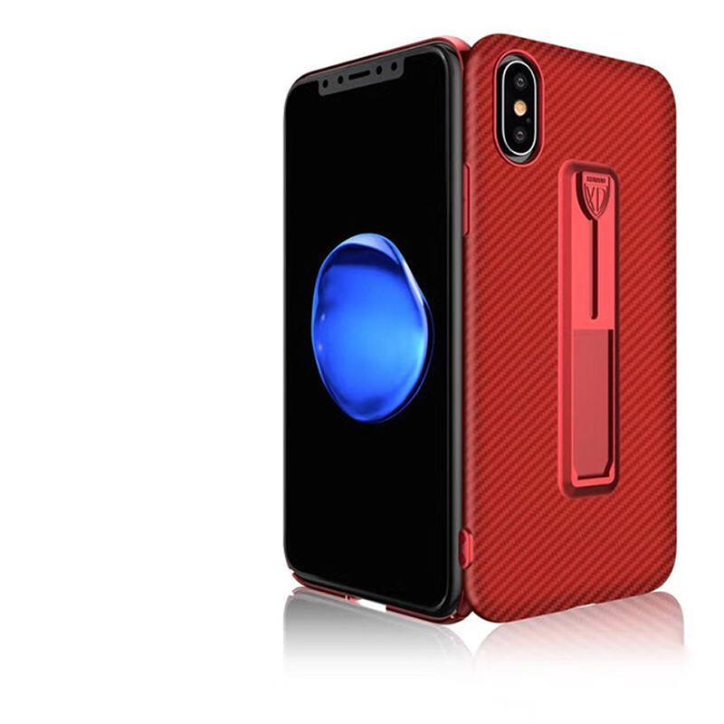 loomrack Ultra-thin Silicone  Phone Case + Retractable Ring Bracket Fitted Cases Red / For iPhone6 6S