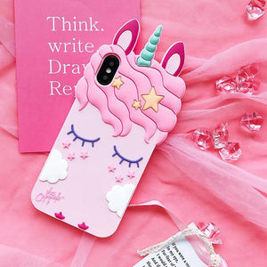 loomrack Unicorn iPhone Case - For iPhone X / SE / 5C / 5S / 6 / 6 Plus / 6S / 7 / 8 Plus Phone Cases