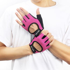 loomrack Unisex Mesh Weight Training Gloves Weight Lifting Pink / M