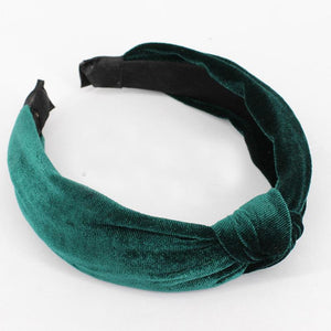 loomrack Velvet Knotted Twist Headband Hair Accessories Army Green