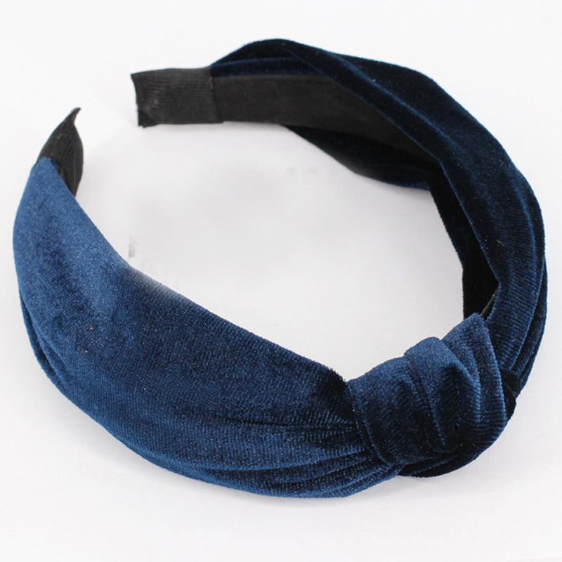 loomrack Velvet Knotted Twist Headband Hair Accessories Blue