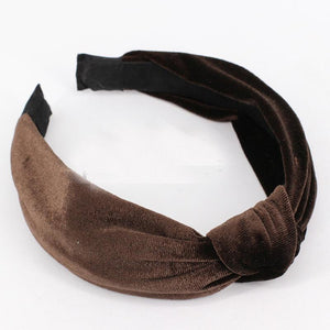 loomrack Velvet Knotted Twist Headband Hair Accessories Brown