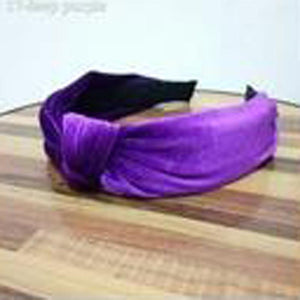 loomrack Velvet Knotted Twist Headband Hair Accessories Light Purple