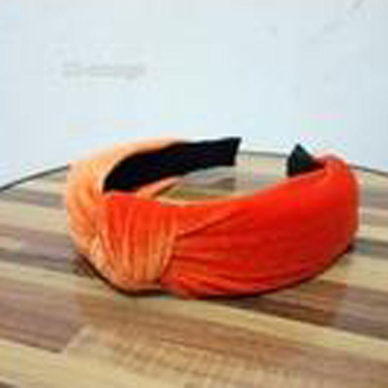 loomrack Velvet Knotted Twist Headband Hair Accessories Orange