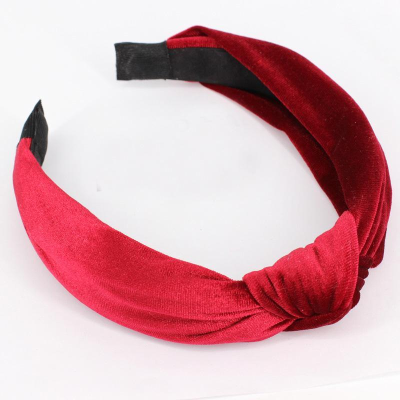 loomrack Velvet Knotted Twist Headband Hair Accessories Red