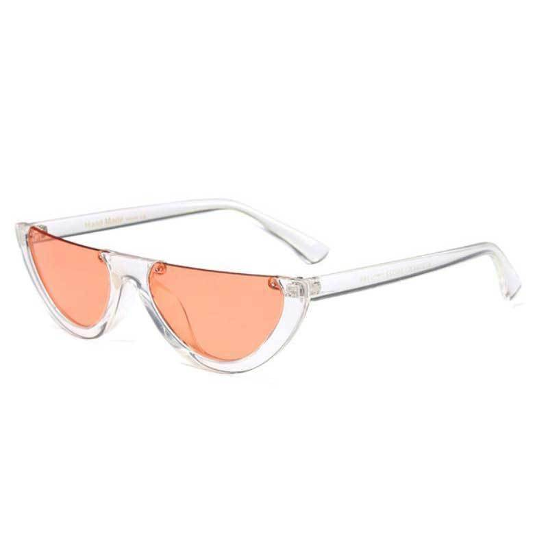 loomrack Vintage Half Frame Small Sunglasses Sunglasses clear orange