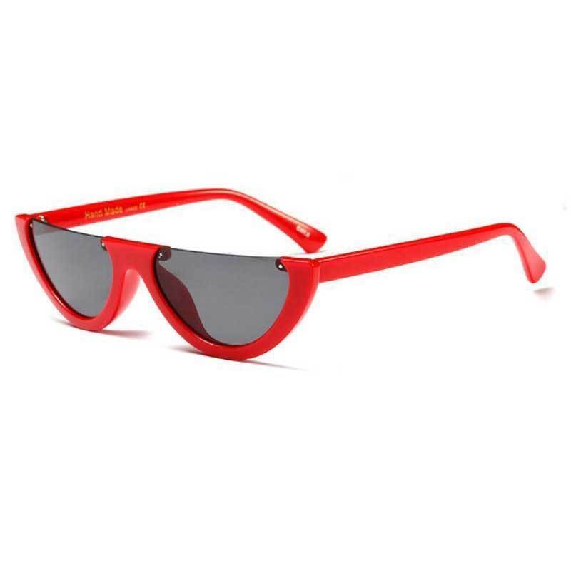 loomrack Vintage Half Frame Small Sunglasses Sunglasses red
