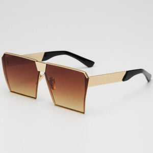 loomrack Vintage Oversized Square Mirror Sunglasses Sunglasses Gold Brown Gradient