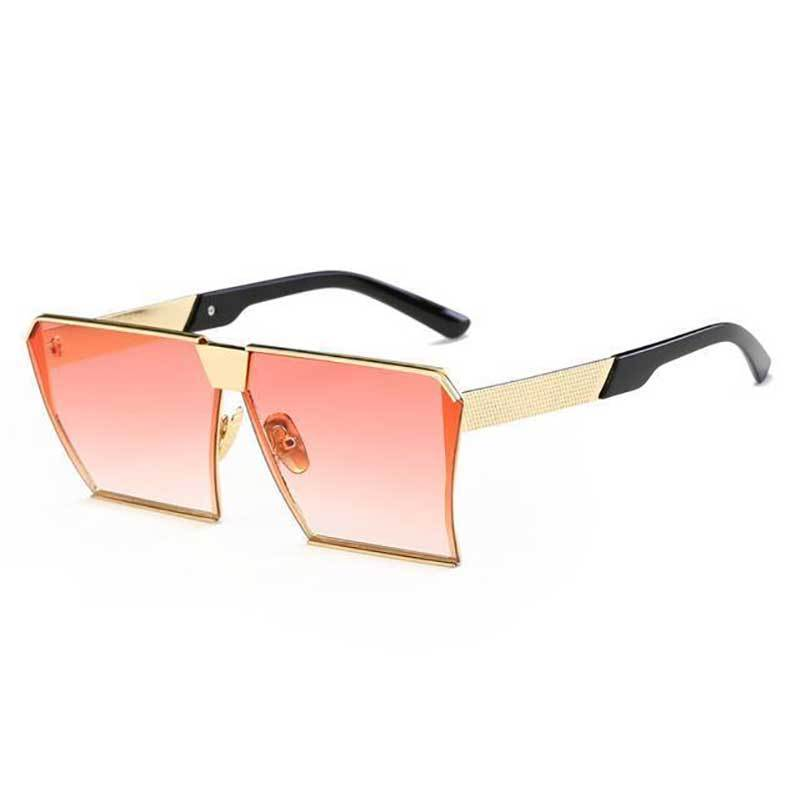 loomrack Vintage Oversized Square Mirror Sunglasses Sunglasses Gradient Red