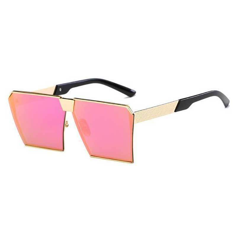 loomrack Vintage Oversized Square Mirror Sunglasses Sunglasses Purple Pink