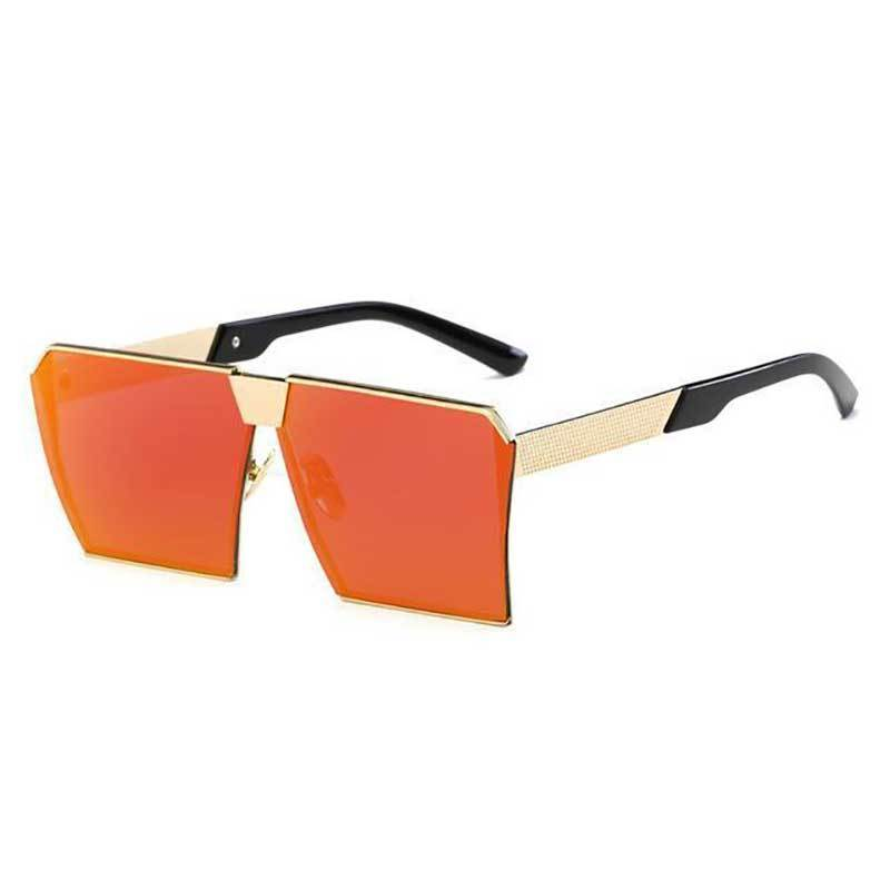 loomrack Vintage Oversized Square Mirror Sunglasses Sunglasses Red mirror