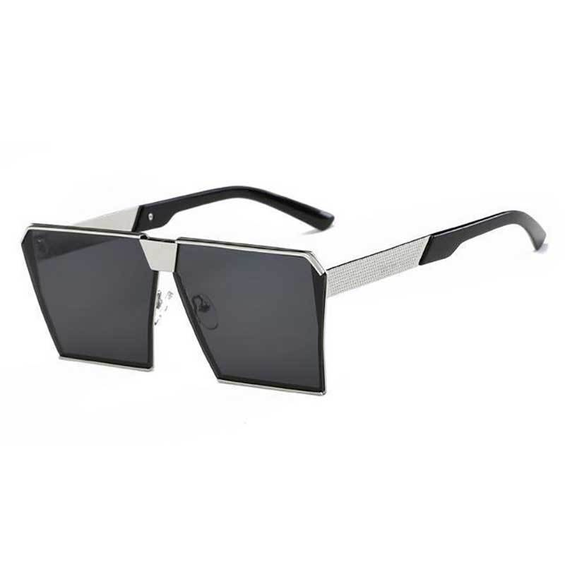 loomrack Vintage Oversized Square Mirror Sunglasses Sunglasses Silver Black