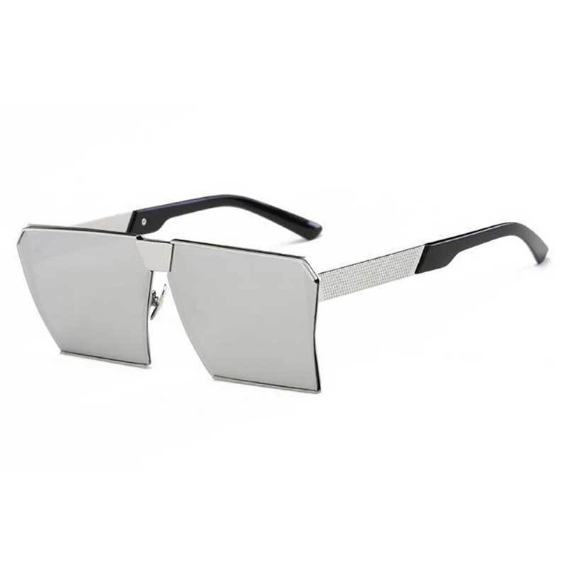 loomrack Vintage Oversized Square Mirror Sunglasses Sunglasses Silver mirror