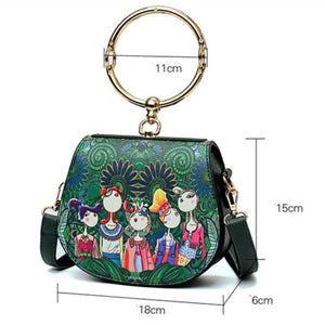 loomrack Vintage Round Handle Bohemian Fashionista Bag Top-Handle Bags