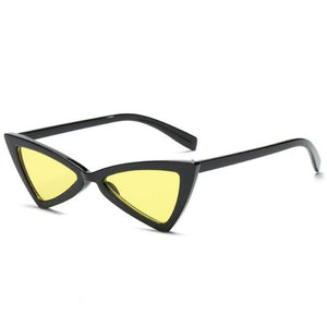 loomrack Vintage Triangle Retro Sunglasses Sunglasses Black Frame Yellow