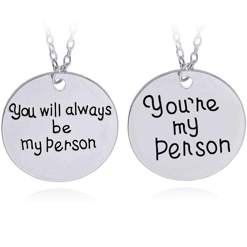 loomrack You're my Person Necklace Set of 2 Pendant Necklaces