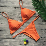 Low Waisted Brazilian Cut Padded Bikini Swimsuits 2019 Loom Rack Orange S