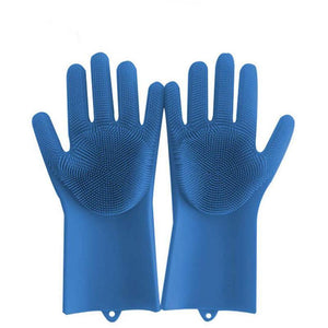 Magic Silicone Dish Washing Gloves Kitchen Loom Rack