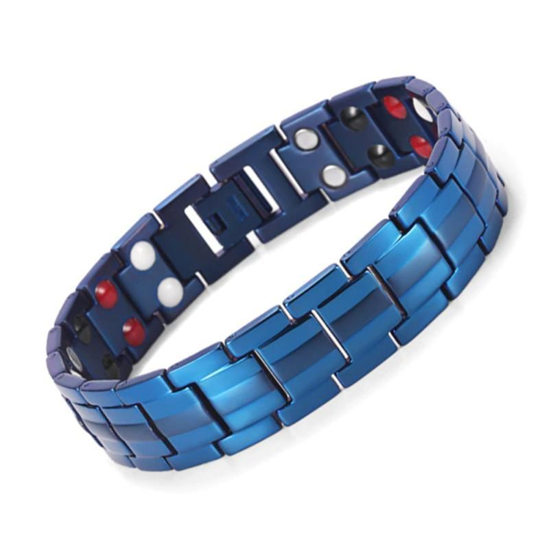 Magnetic Therapy Bracelet Bracelets Loom Rack Blue