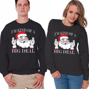 Matching Christmas Sweaters for Couples - I'm Kind of a Big Deal Christmas Ugly Sweaters Loom Rack