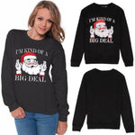 Matching Christmas Sweaters for Couples - I'm Kind of a Big Deal Christmas Ugly Sweaters Loom Rack Women S
