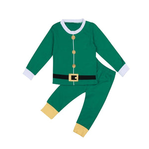 Matching Family Christmas Pajamas - Santa Suit for Families or Couples and Dog or Cat Matching Outfits Loom Rack Green Papa M