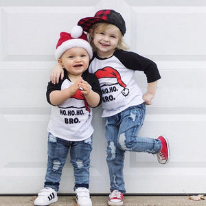 Matching Kids Christmas - Ho Ho Ho Kids T-shirts Matching Outfits Loom Rack 2T