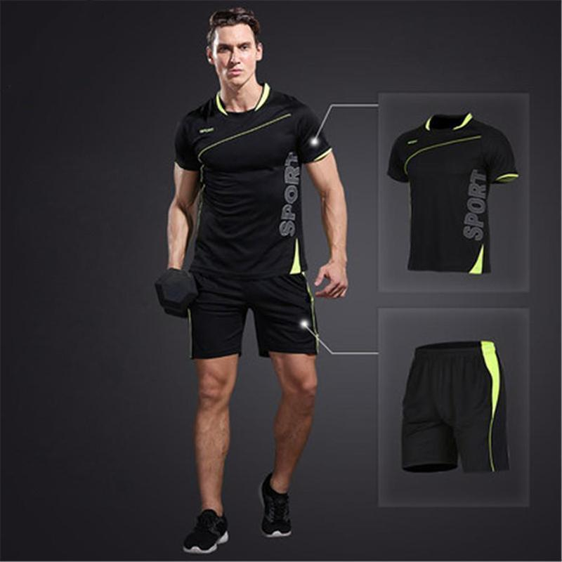Men's 2-Piece Dry Fit Soccer Set Running Sets Loom Rack