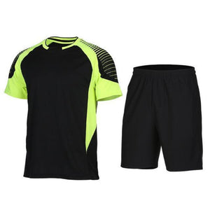 Men's 2-Piece Dry Fit Soccer Set Running Sets Loom Rack XLF013 S