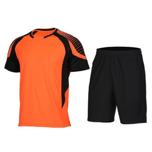 Men's 2-Piece Dry Fit Soccer Set Running Sets Loom Rack XLF016 S