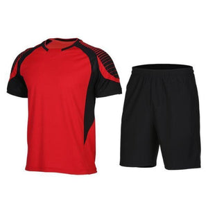 Men's 2-Piece Dry Fit Soccer Set Running Sets Loom Rack XLF017 S