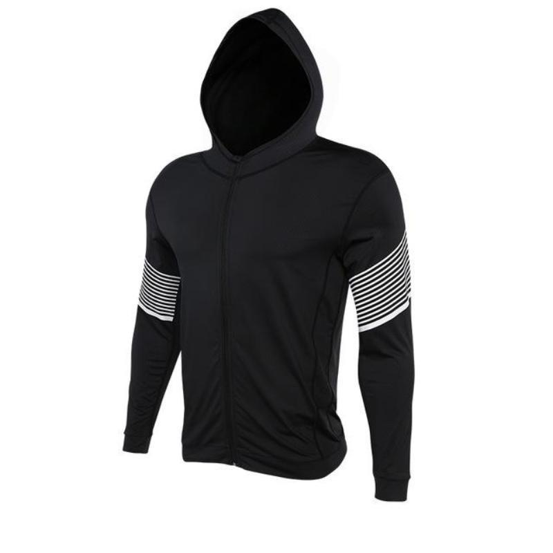 Men's Spiral Reflective Zip-up Hoody Sports Jackets Loom Rack 72804 S