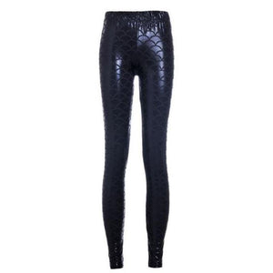 Mermaid Leggings - Becca Fish Scale Leggings Loom Rack Black S