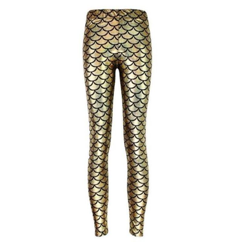 Mermaid Leggings - Becca Fish Scale Leggings Loom Rack Gold S