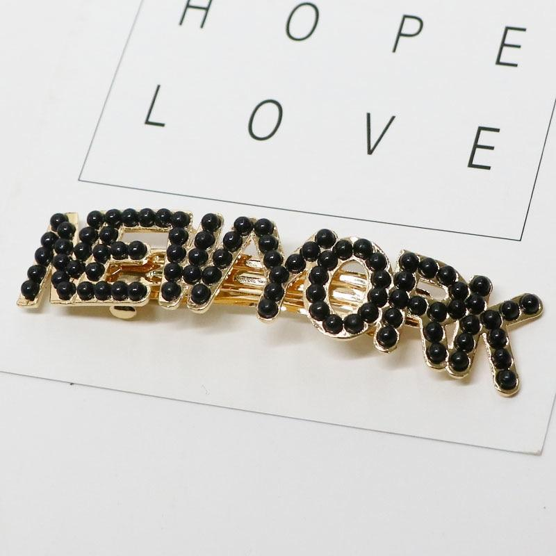 Metropolis Hair Clip Barrettes Hair Accessories 8.New York-BL