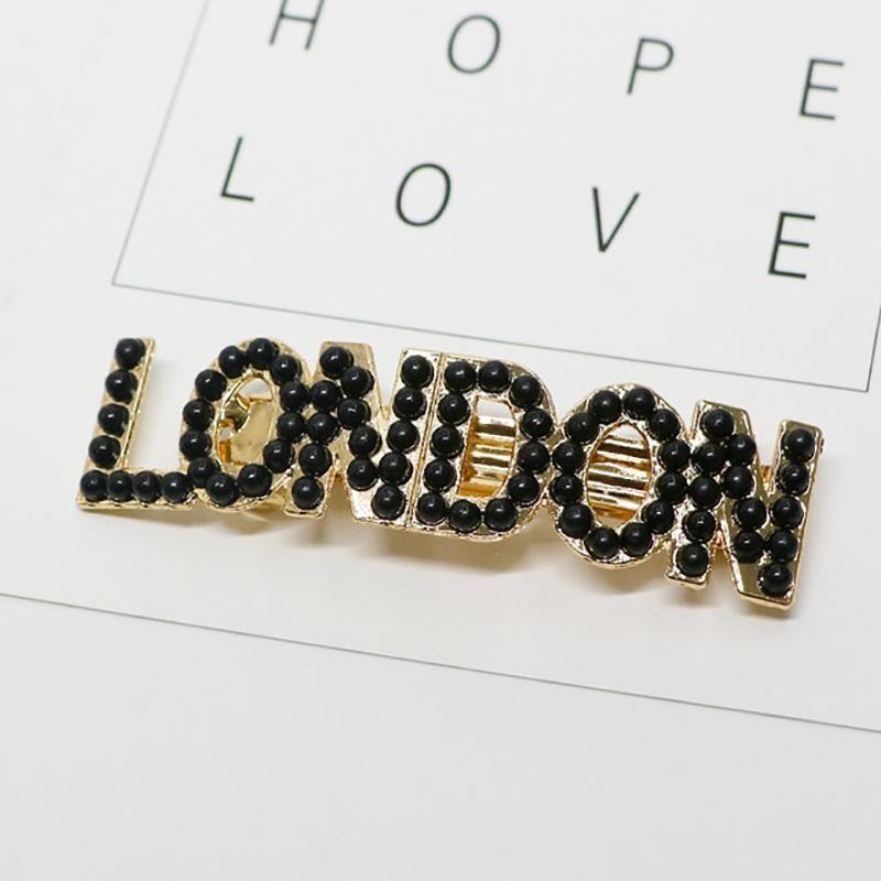 Metropolis Hair Clip Barrettes HairClips Loom Rack London-BL