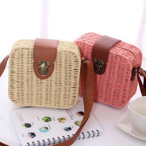 Mini Straw Messenger Bag Rattan Bags Loom Rack